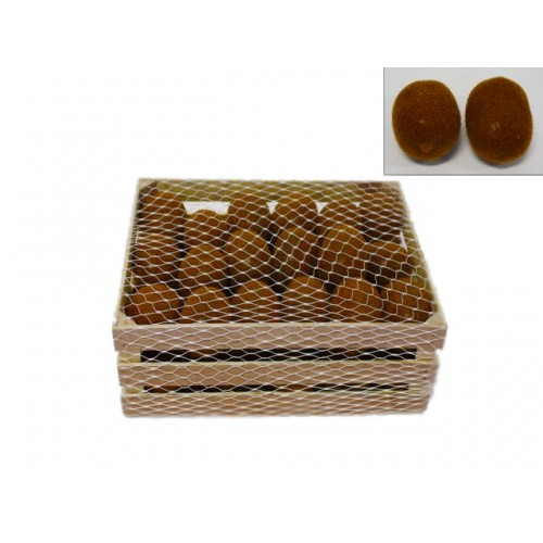 Deco Kiwi In Wooden Crate Size 30x22x10.5cm Plastic