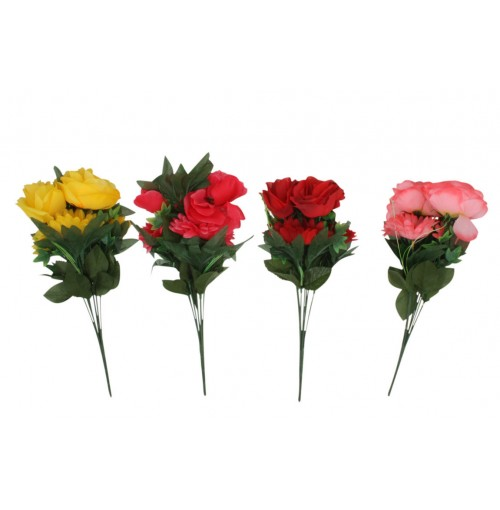 Rose &Amp; Gerbera Bunch 7 Head 47cm