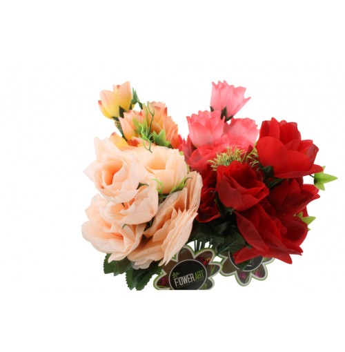 Rose Bunch 7head Spring Growth 35cm Color