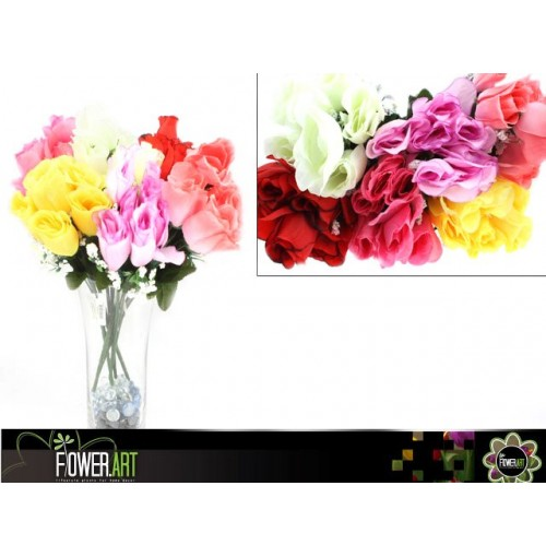 Rose Bunch Closed 7 Head 42cm