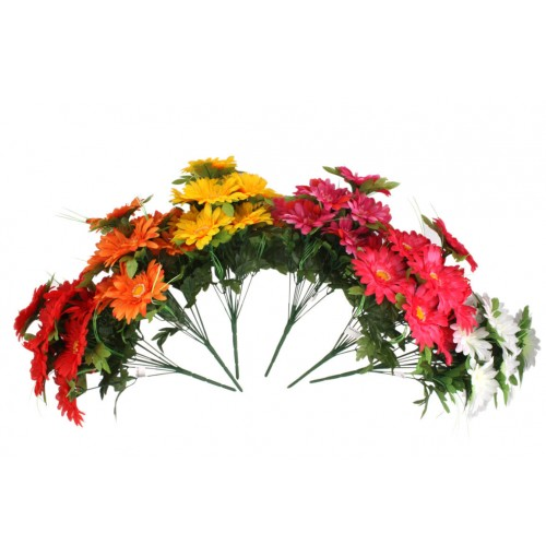 Gerbera Bush 12 Head Clrs 40cm
