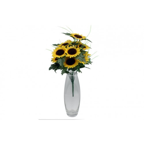 Sunflower Bush 12 Head 36cm