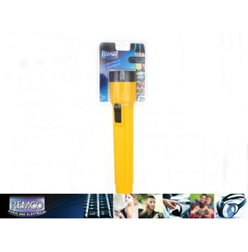Torch Yellow 6x25.5cm With Hook Use 3 X D Battery