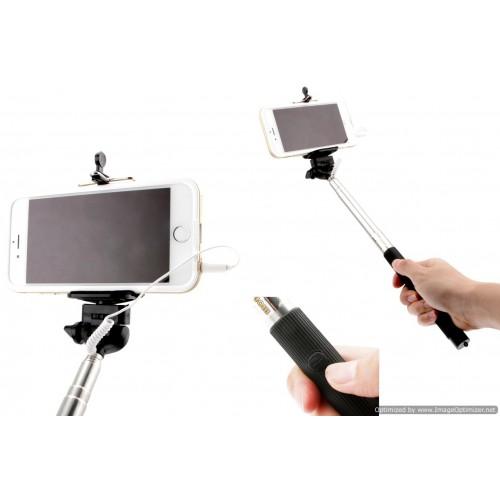 Iphone Extendable Selfie Stick Monopod W/Cable Remote 108cm