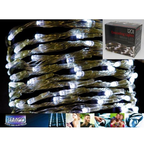 120 White Led Cascading Lights