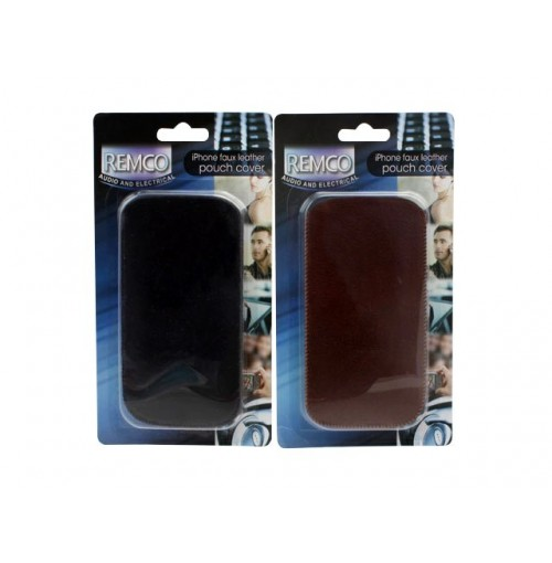 Iphone 4 And 3 Faux Leather Pouch Cover
