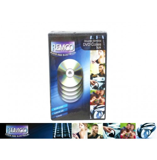 Dvd Cases Double 5pk Slimline