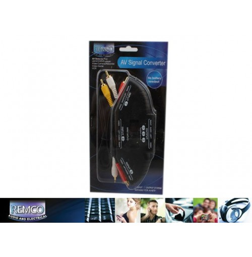 Signal Converter Audio Video Input Selector