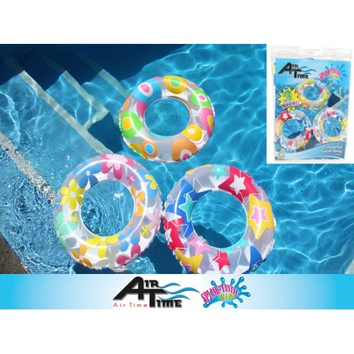 Swim Ring Printed 50cm 3 Asst Airtime