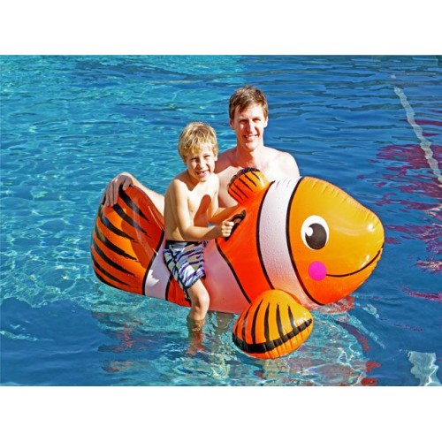 Inflatable Ride On Clown Fish Orange 154x97x74cm