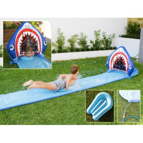 Shark Splash Water Slide With Body Board