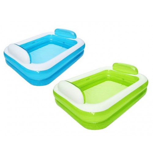 Family Pool With Pillow Ends Blue Green 152x108x60cm