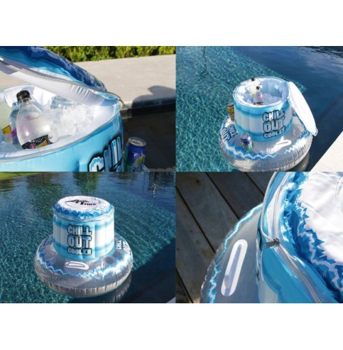 Floating Cooler With Drink Holders
