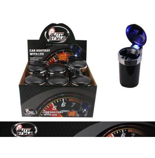 Car Ashtray Led In Display Black