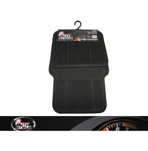 Car Mats Tpr Rubber 4pc Black