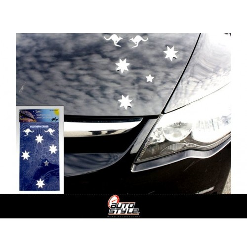Car Sticker Southern Cross Laser Rainbow 100%wp 30x19.5cm
