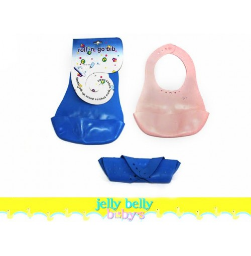Baby Travel Roll N Go Bib Flexi W/ Scoop