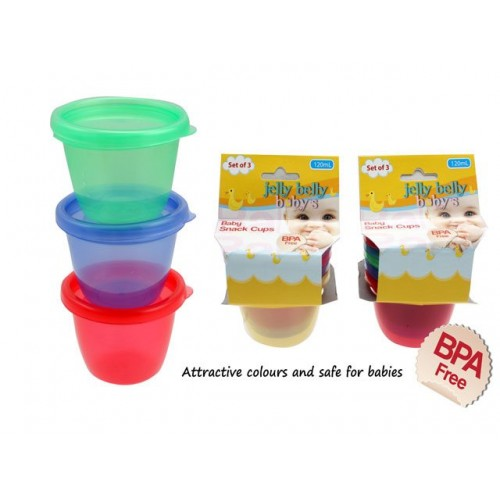 Snack Cups Set Of 3