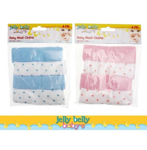 Baby Wash Cloths 4pcs