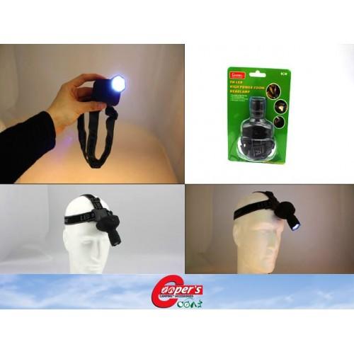 Led Headlamp 3w High Powered Zoom 6cm
