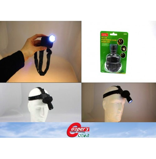 Led Headlamp 3w High Powered Zoom 6cm