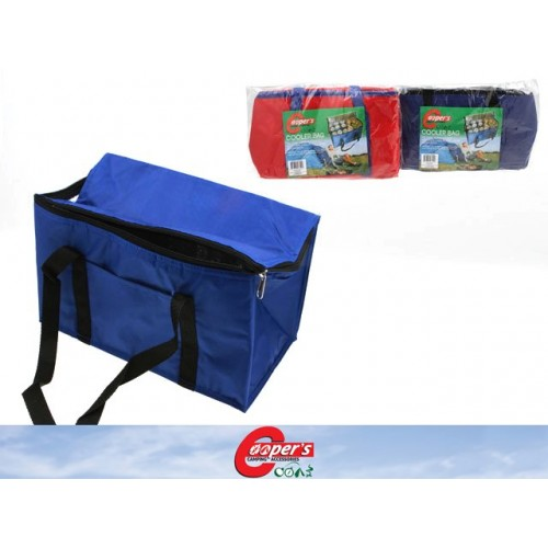 Cooler Bag 36x20x20cm Blu W/Blk Trim, Red W/Blk Trim