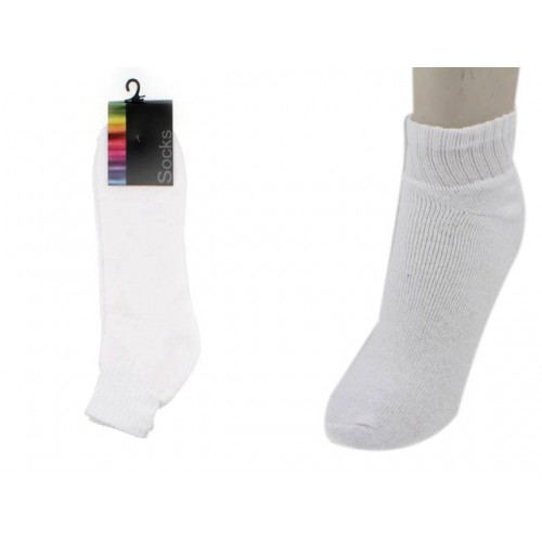 Mens Ankle Socks White 1 Pair