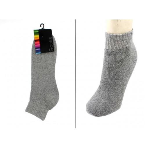 Mens Ankle Socks Grey Marble 1 Pair