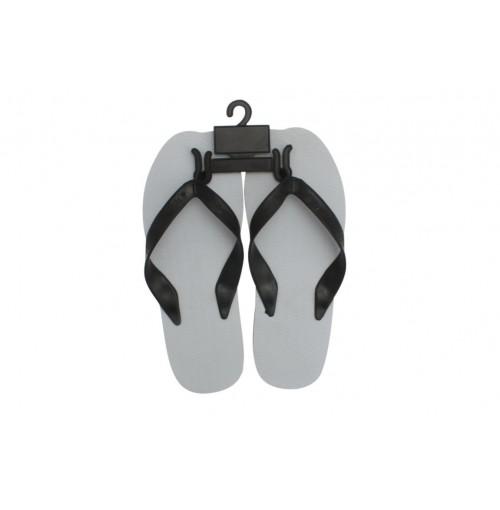 Mens Double Plug Thong Size 40-46 Blk & Wht