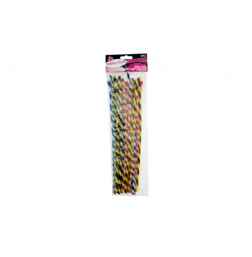 Chenille Pipe Cleaners Candy Twist 25pce 30cm