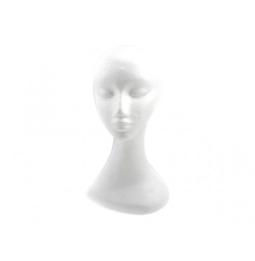 Mannequin Head Lady Tall Foam 34cm