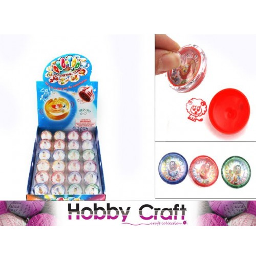 Stamp Spinning Top Star Signs Assorted
