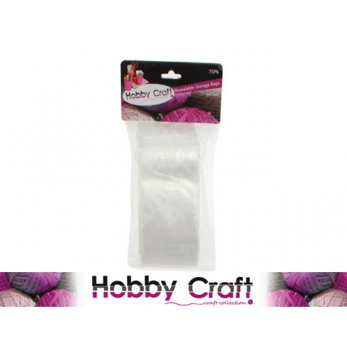 Craft Resealable Storage Bags 75pk 7.5cm X 5cm