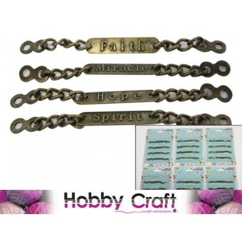 Scrapbooking Id Bracelet Metal 4pk