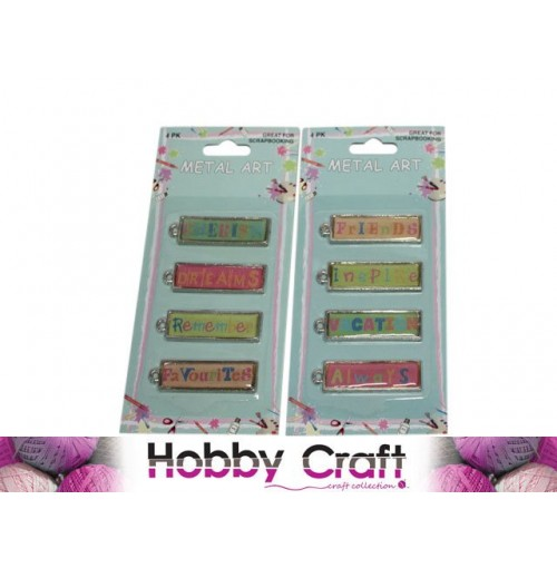 Scrapbooking Metal Art 4pk
