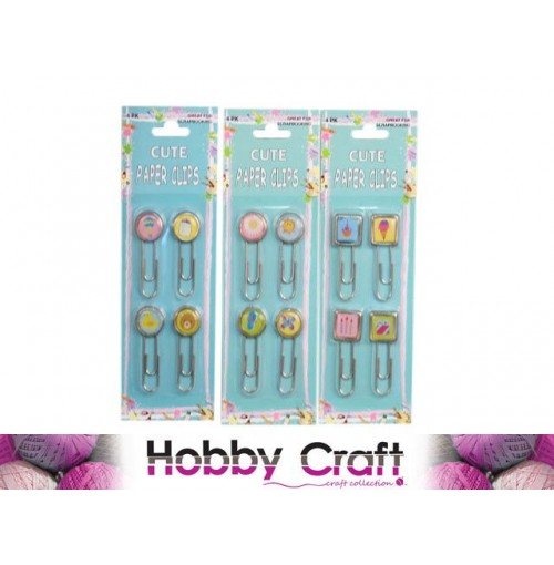Scrapbooking Paper Clips Cute 4pk