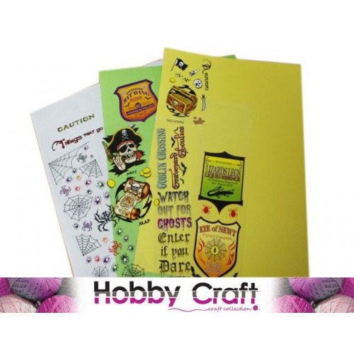 Scrapbooking Transfers Rub On Scary