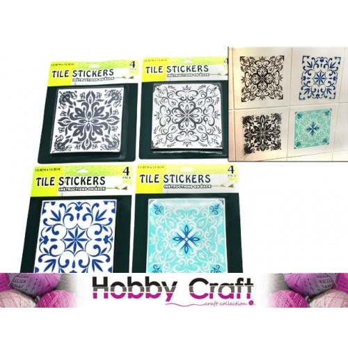 Tile Stickers 4pk 14.8x14.8cm