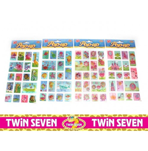 Twin Seven 3d Pop Up Stickers
