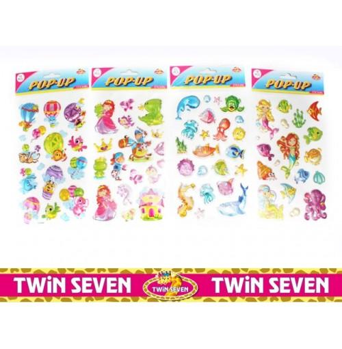 Twin Seven Metallic Pop Up Stickers Girls