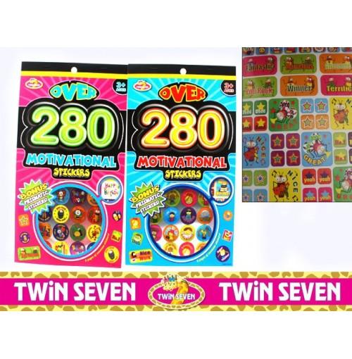 Twin Seven Motivational Stickers 280pcs