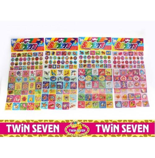 Twin Seven Vaws Rack 100pc Sticker Set