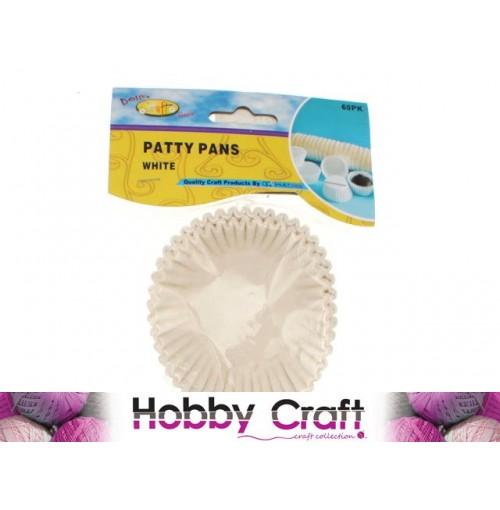 Craft Patty Pans White 60pk Lrg