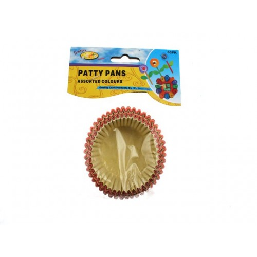 Craft Patty Pans Coloured 60pk Lrg
