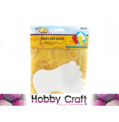 Craft Cut Outs Foot 18pc