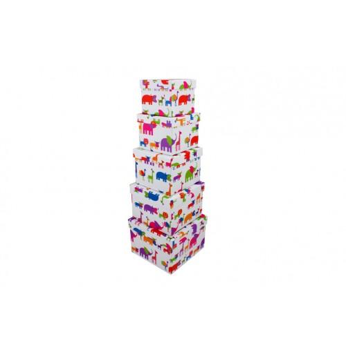 Gift Box Jungle Animals S / 5 Square