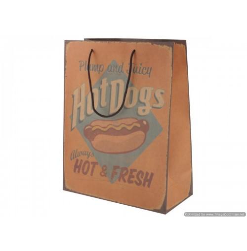 Vintage Giftbag Hot Dogs 26x33x12cm