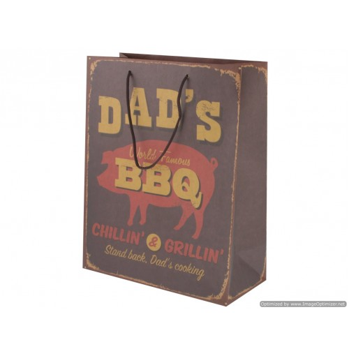 Vintage Giftbag Dads Bbq 26x33x12cm