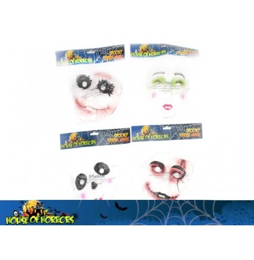 Clear Spooky Sprayed Mask
