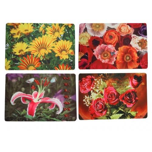 Door Mat Photo Print Flower 3 Asst 45x75cm